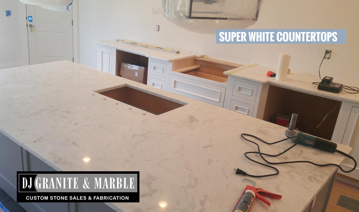 Super White Granite Kitchen Super White Quartzite Countertop Sale Chicago Il Mn In