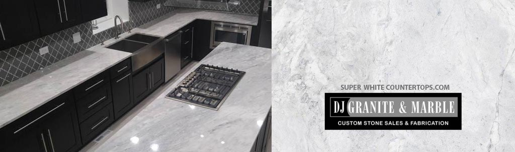 Stone Countertops Near Me : Super White Quartzite Countertop Sale, Chicago IL, MN, IN