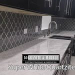 super white Kitchen dark- cabinets chicago il 2