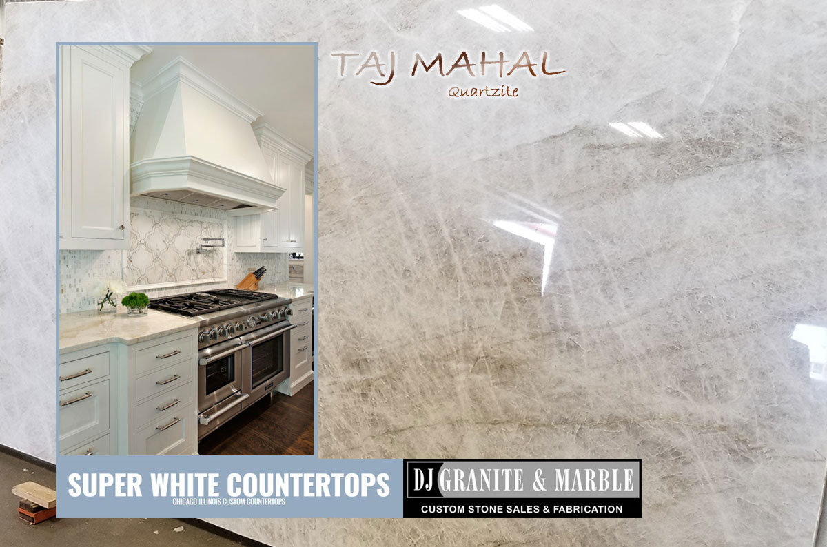 Taj Mahal Quartzite Super White Countertops